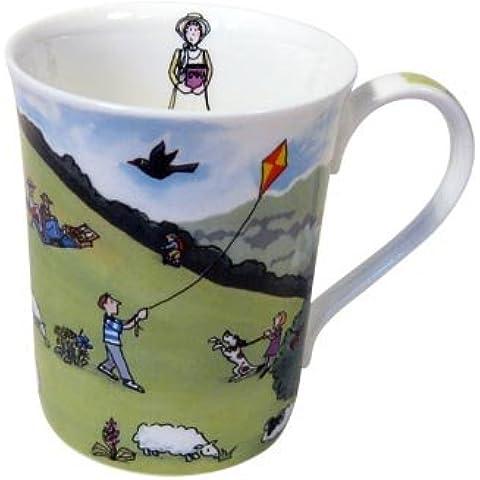 Alison Gardiner National Trust range - Box Hill Fine Bone China Mug by Alison Gardiner