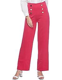 GAMISS Mujer Pantalones Largos Cintura Alta Casual Moda Pantalon Suave Yoga Deporte Fitness Talla Grande