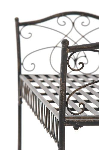 CLP Gartenbank SHERAB im Landhausstil, aus lackiertem Eisen, 125 x 43 cm (aus bis zu 6 Farben wählen) bronze - 5