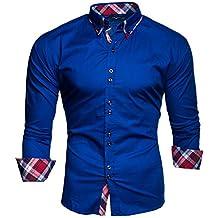 3a0e52764d3e8 Kayhan Hombre Camisa Manga Larga Slim Fit S M L XL 2XL