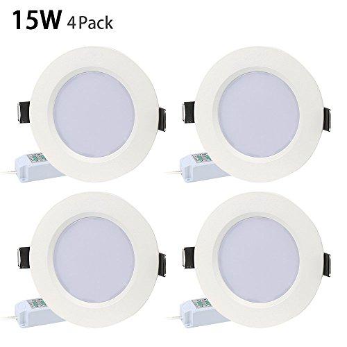 Foco LED empotrable Derlights 15w set de 4 focos regulables