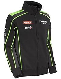 Kawasaki SBK Réplica de sudadera chaqueta. NUEVO. Negro Verde de bikerworld