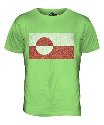 CandyMix Grönland Kritzelte Flagge Herren T Shirt Limettengrün