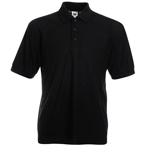 Polo-Shirt * 65/35 Polo * Fruit of the Loom Farbe schwarz Größe XL