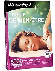 Wonderbox – Coffret cadeau de Noël pour femme - BULLE DE BIEN ETRE – 8000 massages californiens, soins du visage, modelage thaïlandais, gommage du corps, hammam, bain aux huiles pour 1 à 2 personnes