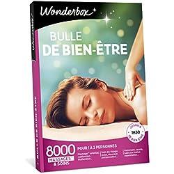 Wonderbox - Coffret cadeau Femme - BULLE DE BIEN ETRE - 8000 massages californiens, soins du visage, modelage thaïlandais, gommage du corps, hammam, bain aux huiles pour 1 à 2 personnes