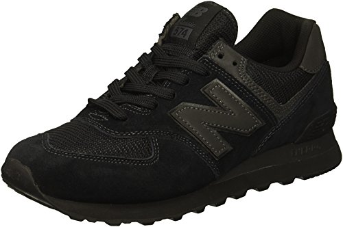 New Balance Herren 574v2 Core Sneaker, Schwarz (Black Black), 40 EU Lace Up Suede Sneakers