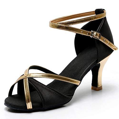 TROWORIAE-Zapatos Baile Latino Tacón Alto/Medio Mujer