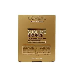 L'Oréal - Gant Autobronzant Sublime Bronze pour le corps - Lot de 4 - Dermo Expertise - 4 x 14g