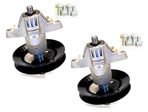 2Ersatz-Spindel Baugruppen Plus 8Schrauben für CUB CADET, Troy Bilt (MTD) 918–0427, 618–0427. Auch 618–0427C, 918–0427C, 618–0324, 918–0324.