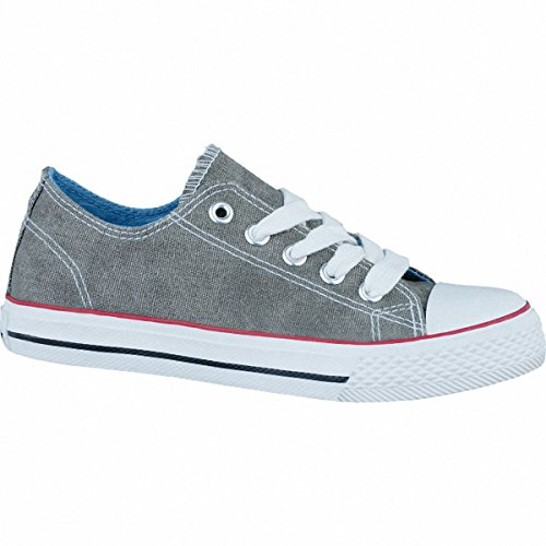 Canadians modische Jungen Canvas Sneakers grey, 3336196/28 Grau