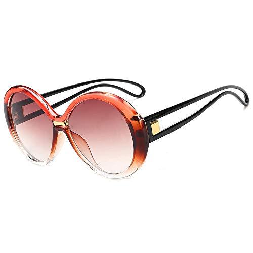 PROMISE-YZ Sonnenbrille Polarisierte sonnenbrille 100% UV 400-Schutz Modetrend-Strandsonnenbrillereise, die runde Gläser der Damenfarbe fährt