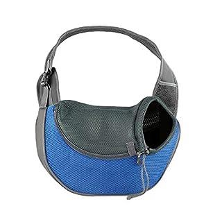 BIGWING Style Pet Sling Carrier for Dog Cat Pets Travel Shoulder Bags (L, Blue)