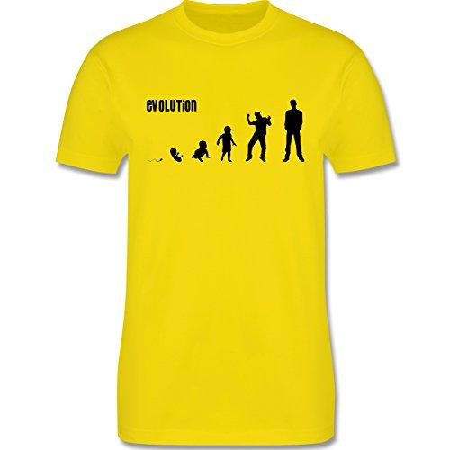 Evolution - Mann Evolution - Herren Premium T-Shirt Lemon Gelb