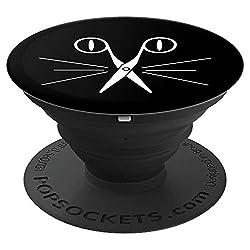Friseur Damen | Geschenk Meister Gesellin I Katze - PopSockets Ausziehbarer Sockel und Griff für Smartphones und Tablets