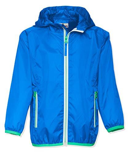 Playshoes Kinder Regenjacke mit Kapuze, faltbare Funktions-Jacke für Mädchen und Jungen , Blau (blau 7) , 116