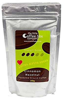 Cinnamon Hazelnut Flavoured Ground Coffee - Premium Roast Blend from The little Coffee Box Co