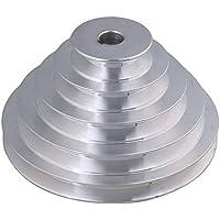 54 mm a 150 mm de diámetro exterior 16 mm de diámetro interior 12.7 mm de aluminio 5 pasos de cinturón de la polea de pagoda para un tipo de cinturón de distribución de la correa en V