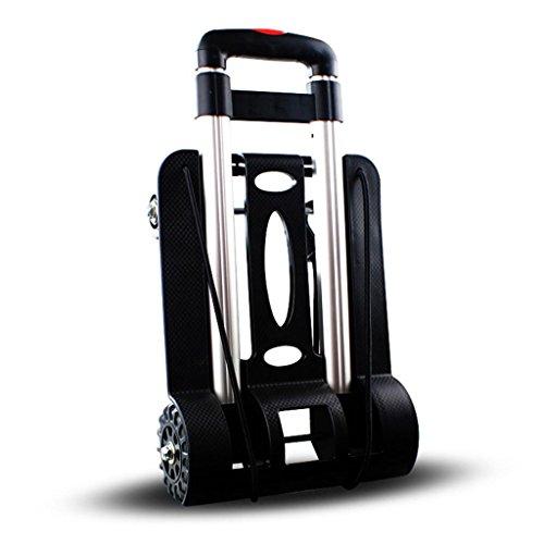 SSQCXO Casa leggero Lega di alluminio pieghevole Portatile viaggio shopping Carrello porta valigie
