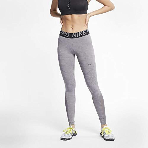 Nike Damen Pro Leggings, Gunsmoke/Heather Black, S