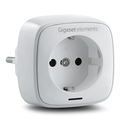 Gigaset Funksteckdose / elements plug / Smart Home Steckdose / ergänzt elements alarm systeme / kompatibel mit Philips Hue / App Steuerung, weiß