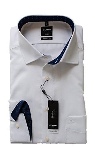 Herren Hemd Luxor Modern Fit Langarm Weiß