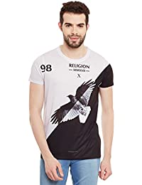 Wear Your Mind Multicolour Polyester Printed Tshirt For Men CST319