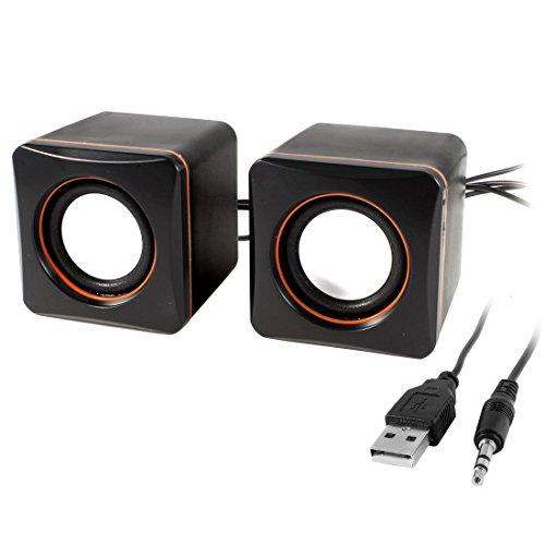 ZCHXD Black Volume Control USB 2.0 Desktop Multimedia Speaker Box Pair for Laptop Multimedia-volume-control