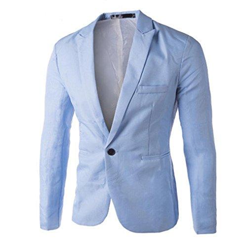 Chaquetas de hombre, Manadlian Encanto Hombres Casual Suit Blazer CoatDelgado Ajuste Un...