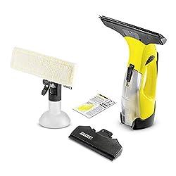 Kärcher Akku Fenstersauger WV 5 Premium (Akkulaufzeit: 35 min, entnehmbarer Akku, 2 Absaugdüsen - schmal/breit, Sprühflasche mit Mikrofaserbezug, Fenstereiniger-Konzentrat 20 ml)