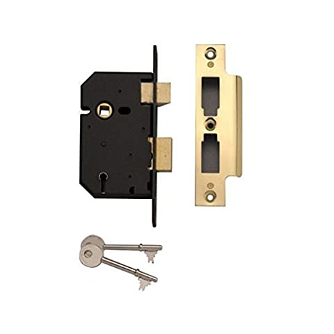 Yale Essentials High Security 2.5 inch/64mm 5 Lever Sashlock, with Easy Fitting Template and Instructions, (Assa Alta Sicurezza Serrature)