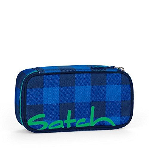 Satch by Ergobag Schlamperbox Bluetwist 9A4 blau grau kariert