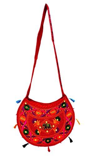 Borsa A Tracolla Ricamata Ricamata Etnica Indiana Handmade Indossa Handmade Delle Donne Arancia