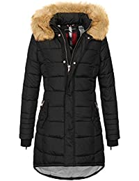 Navahoo Papaya Damen Winter Jacke Steppjacke Mantel Parka gesteppt warm B374 448d4d5552