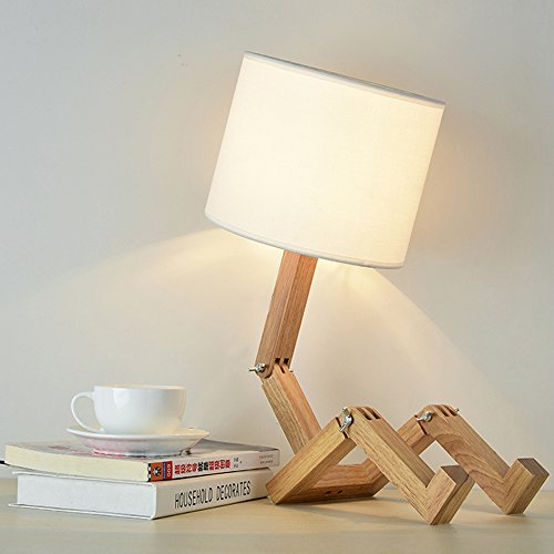 Lámpara de escritorio robot - ELINKUME Lámpara de noche moderna ...