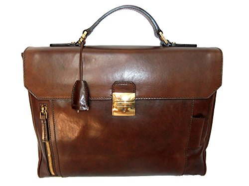 The Bridge Passpartout Sac bandoulière cuir 37 cm marrone