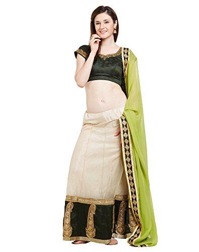 Viva N Diva Lahenga For Women's Party Wear Cream Color Net Lahenga...