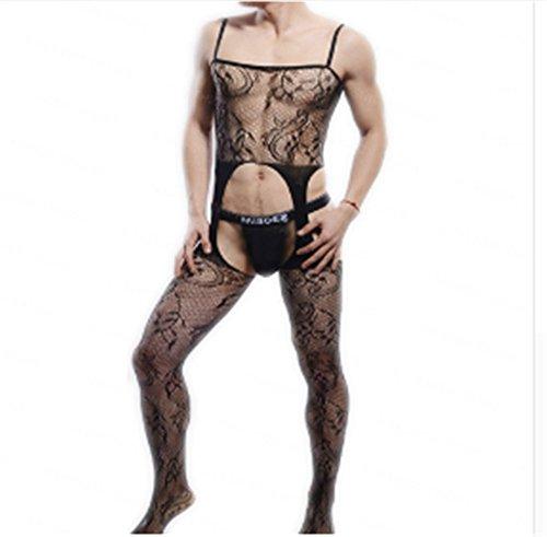 Zearo Sexy männer Underear Modell Foto Schießen Körper strümpfe Männer Öffnengabelung Strümpfe BodyStocking Herren Strumpfhosen (Herren Nylon Kostüme)