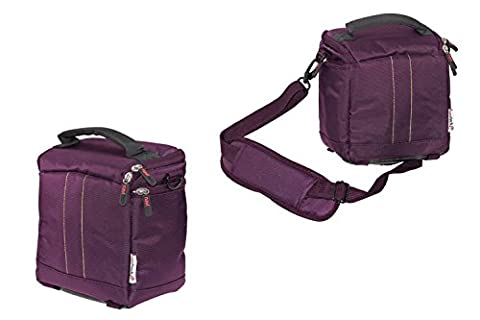 Navitech Étui de transport portatif protecteur violet et sac de voyage pour le LG Minibeam PV150G Portable LED Projector, WVGA (854 x