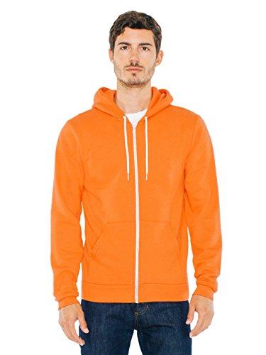 american-apparel-sweat-a-capuche-femme-orange-tang-xl