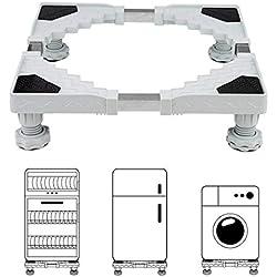 Base de Réfrigérateur Machine à Laver Miyare Réglable Stent Support Lourde Charge 300 kg Scratch Prévention Réduction du Bruit Effet Tremblement de Terre Contre-mesure 50 cm ~ 66 cm