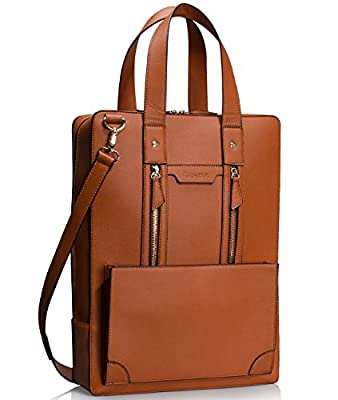 Estarer Women Laptop Bag 15.6 inch Office Briefcase PU Leather Work Satchel Handbag Large