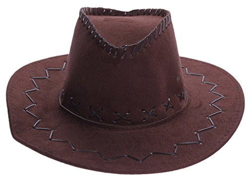 Smile YKK Chapeau Cowboy Adulte Enfant Chevalier Capeline Déguisement Chapeaux de Soleil Voyage Café
