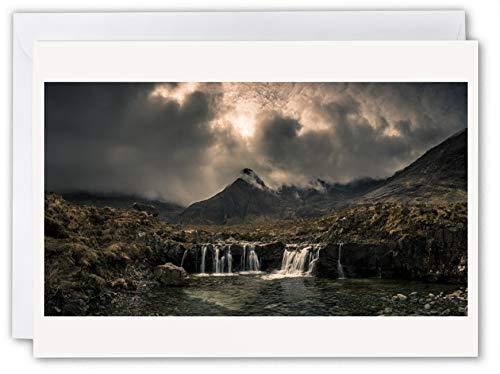 Fairy Pools Isle of Skye - Schottland Grußkarte von Scottish Landscape Photographer Neil Barr - innen blanko