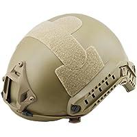 forwei LAI Fast Táctica Casco, Casco de protección Ajustable para Nerf Wargame CS Caza,