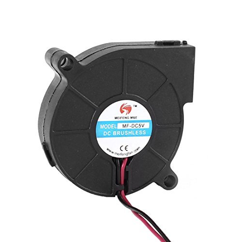 Water & Wood MF-DC5V 50x15mm 2 Wires DC 5V Brushless Sleeve Blower Cooling Fan (Dc Brushless Fan Motor)
