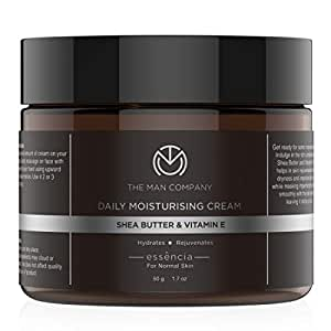 The Man Company Daily Moisturising Cream With Shea Butter & Vitamin E for Moisturizing & Hydrating | All Skin Types | 50 gm
