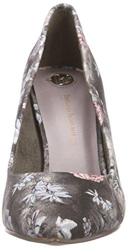 Bruno Banani Pumps, Chaussures à talons - Avant du pieds couvert femme Multicolore - Mehrfarbig (Black Multi 049)