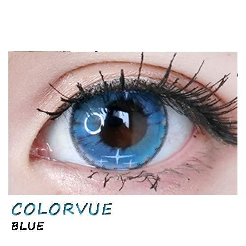 weiche Farblinsen Kontaktlinsen farbig + Behälter 1 Paar (2 Stück) ohne Stärke I 0.00 Dioptrien COLORVUE BLUE