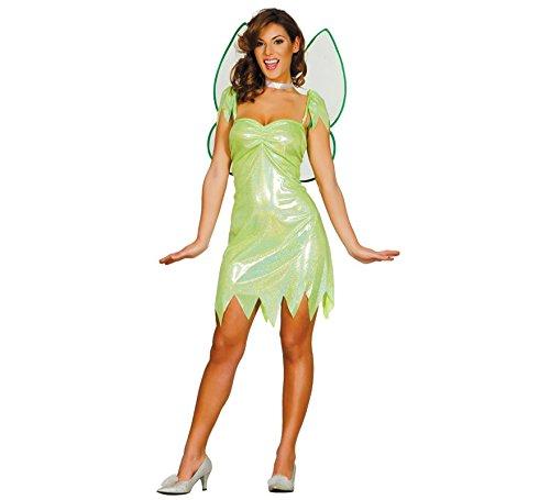 Costume da fata verde brillante per donna S (40-42) d9d16916bd7